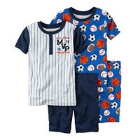 Boys 4-12 Carter's 4-Piece Sports Pajama Set