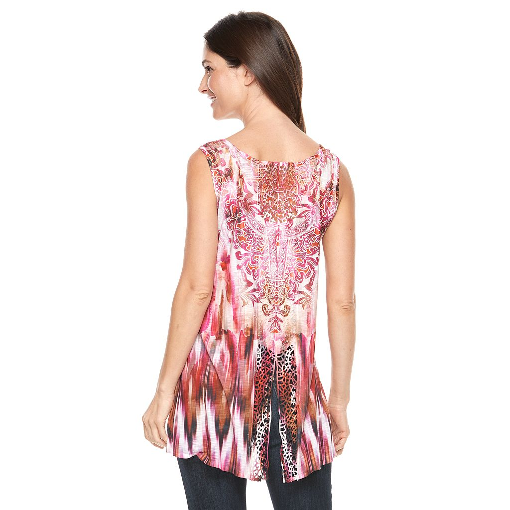 Women's World Unity High-Low Print Tank