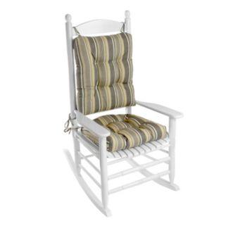 Klear Vu Indoor-Outdoor Porch Rocking Chair Cushion Set