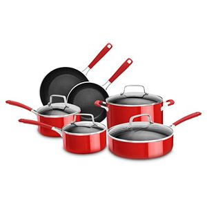 KitchenAid 10-pc. Aluminum Nonstick Cookware Set