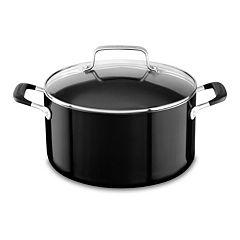KitchenAid 6-qt. Aluminum Nonstick Low Casserole Pan with Lid