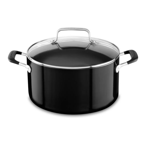 KitchenAid 6-qt. Aluminum Nonstick Low Casserole Pan with Lid