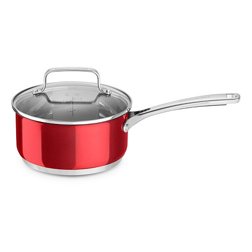 KitchenAid 3-qt. Stainless Steel Saucepan with Lid