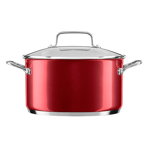 KitchenAid 6-qt. Stainless Steel Low Casserole Pan with Lid
