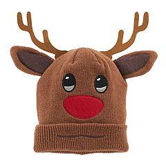 Girls 4-16 Emoji Rudolph 3D Hat