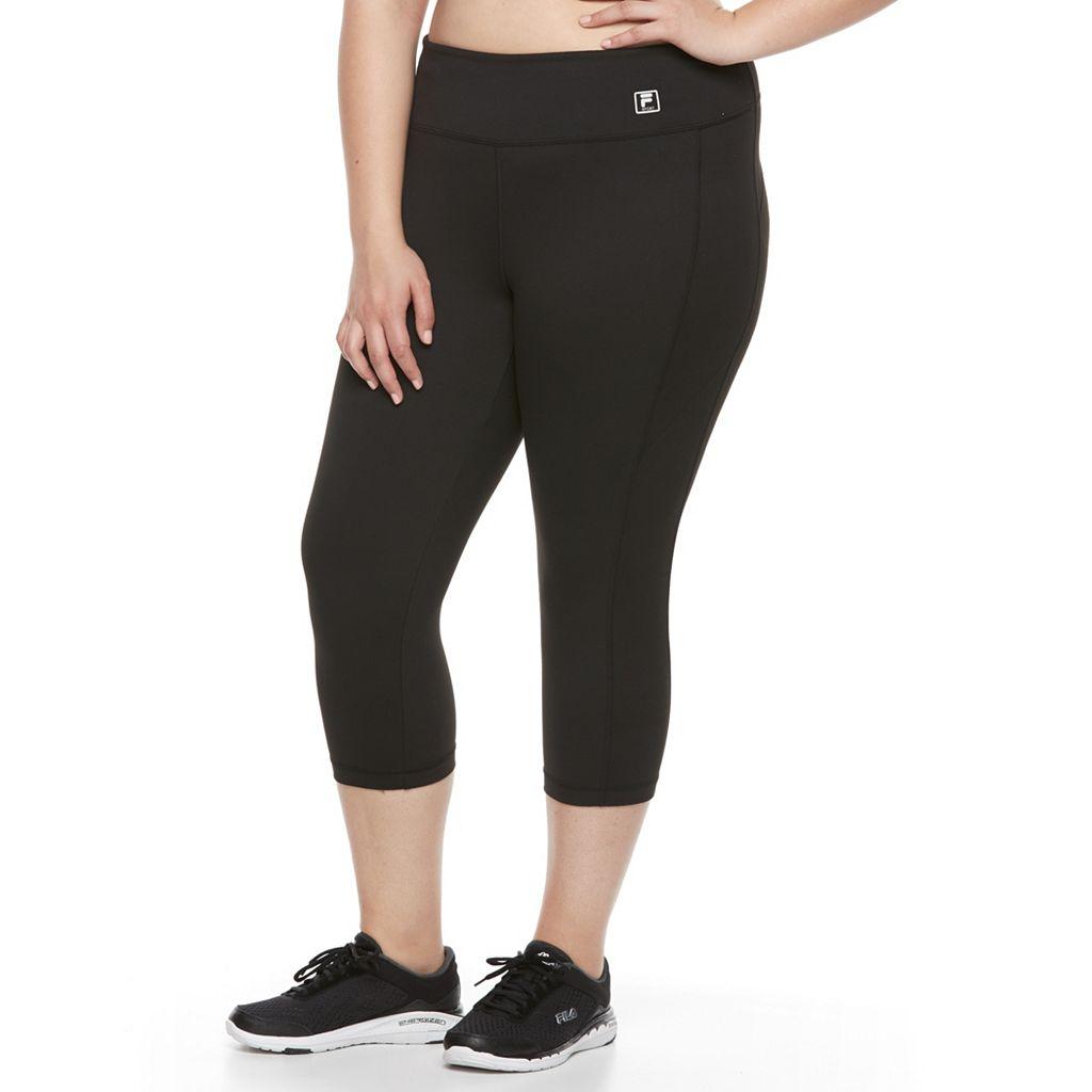 Plus Size FILA SPORT® Slim Straight Yoga Capris
