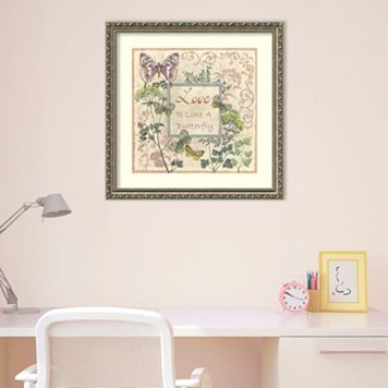 Amanti Art Love And Butterflies Framed Wall Art