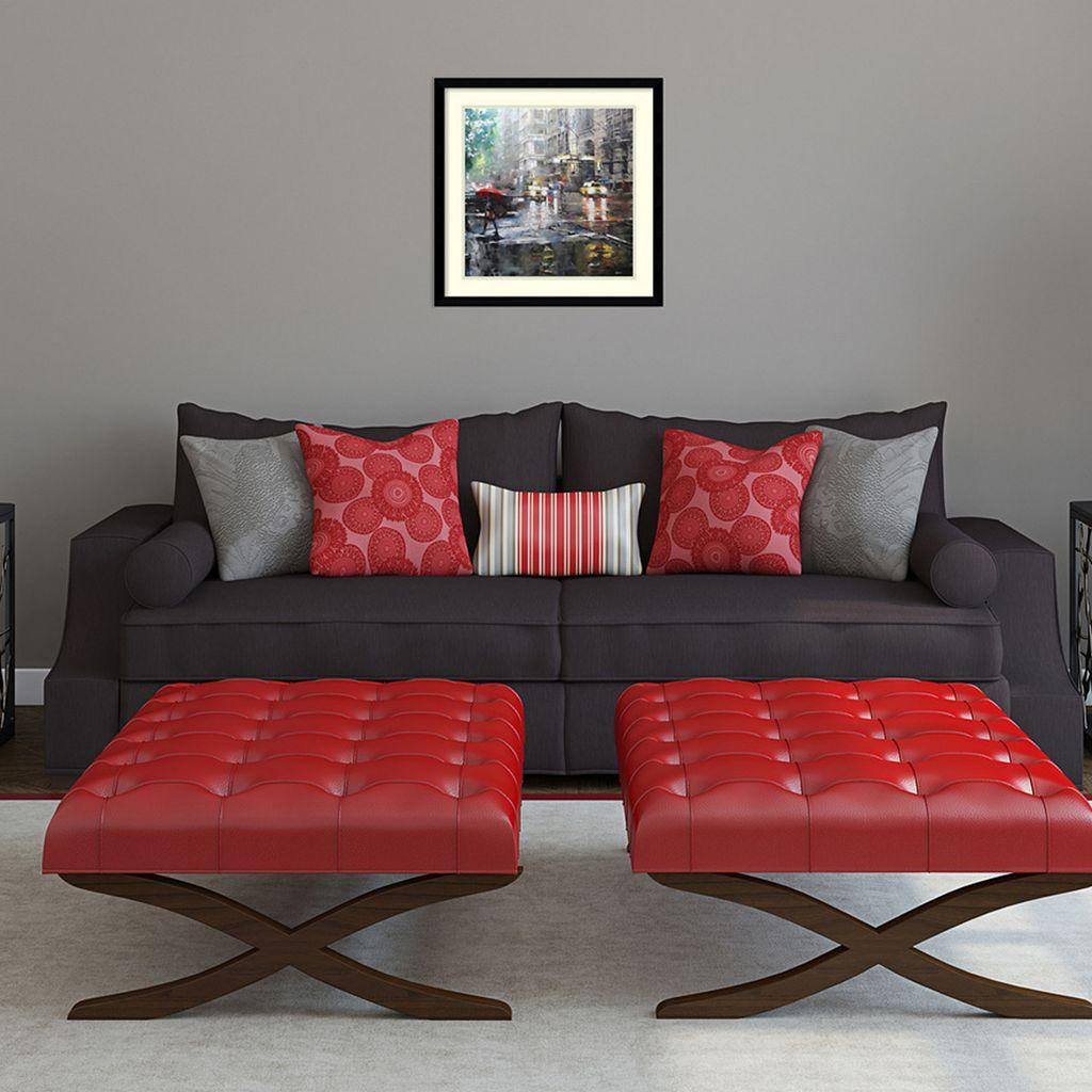 Amanti Art Manhattan Red Umbrella Framed Wall Art