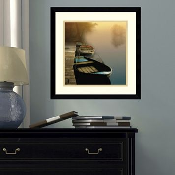Amanti Art Misty Boats Framed Wall Art