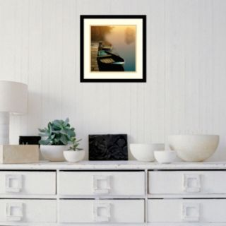 Amanti Art Misty Boats Framed Wall Art