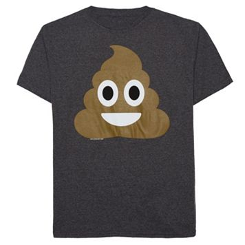 Boys 8-20 Smiling Poop Emoji Tee