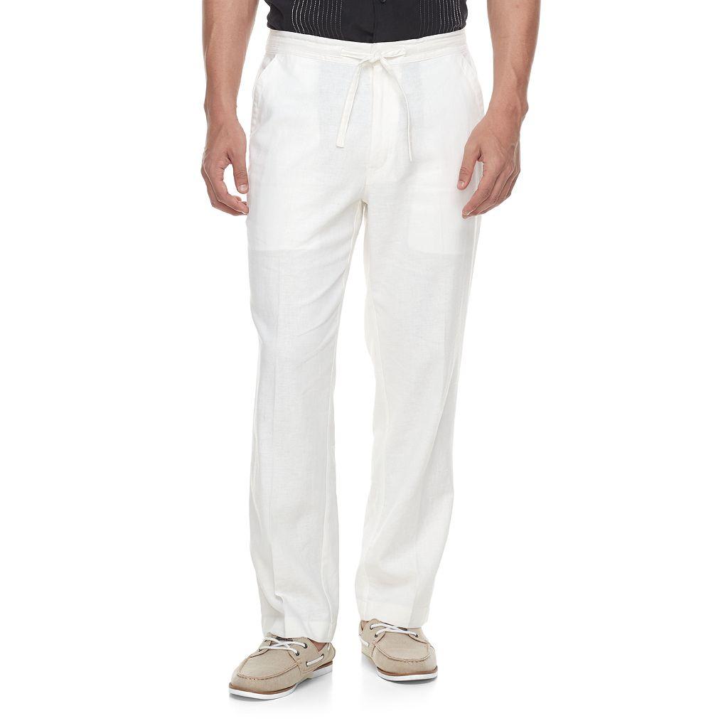 Men's Havanera Classic-Fit Linen-Blend 32-inch Inseam Drawstring Pants