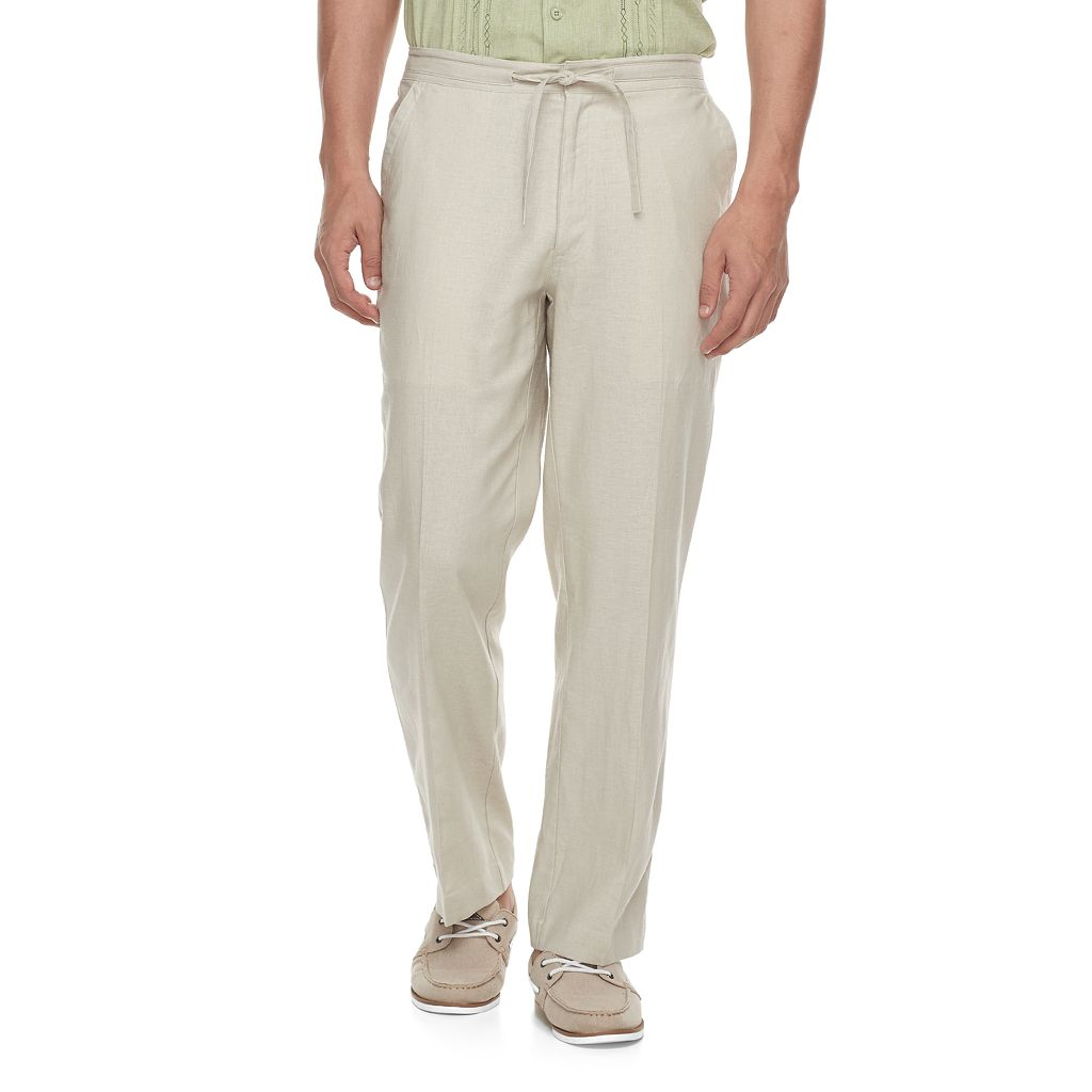 Men's Havanera Classic-Fit Linen-Blend 32-inch Inseam Drawstring Pants