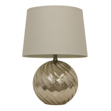 Decor Therapy Round Mercury Glass Swirl Table Lamp