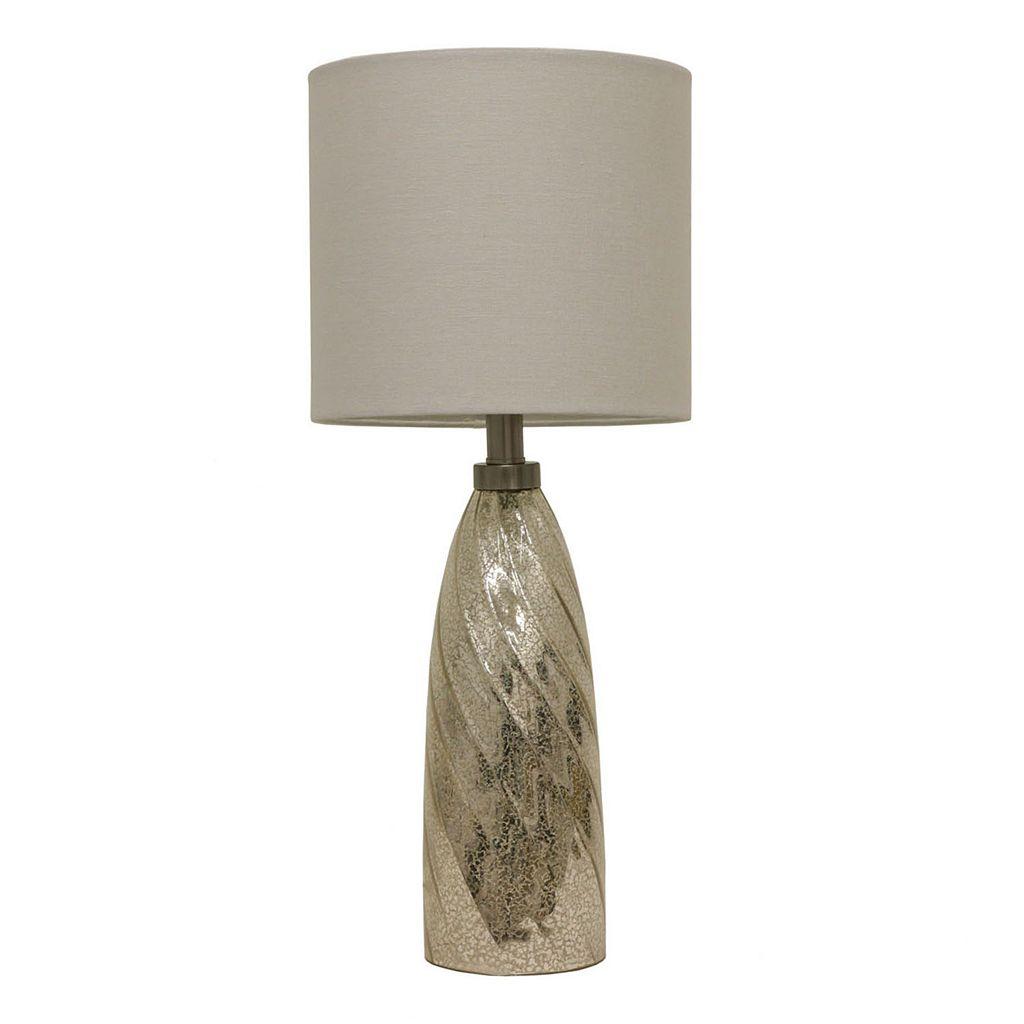 Decor Therapy Mercury Glass Swirl Table Lamp