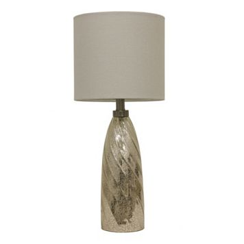Decor Therapy Mercury Glass Swirl Table Lamp