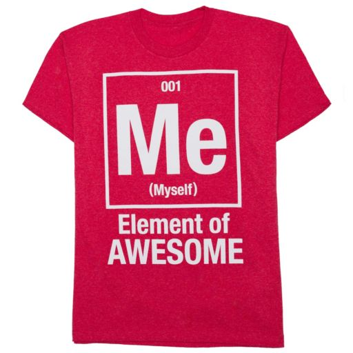 """Boys 8-20 """"Me Element of Awesome"""" Tee"""