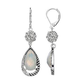 Dana Buchman White Fireball Nickel Free Teardrop Earrings