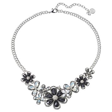 Dana Buchman Black Flower Necklace