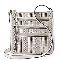 Apt. 9® Robin Perforated Triple Zip Crossbody Bag