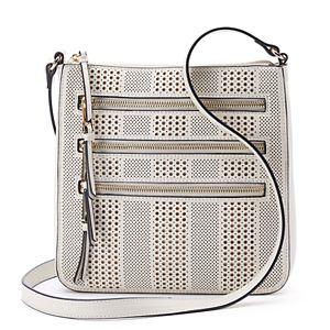 Apt. 9® Robin Perforated Triple Zip Crossbody Bag