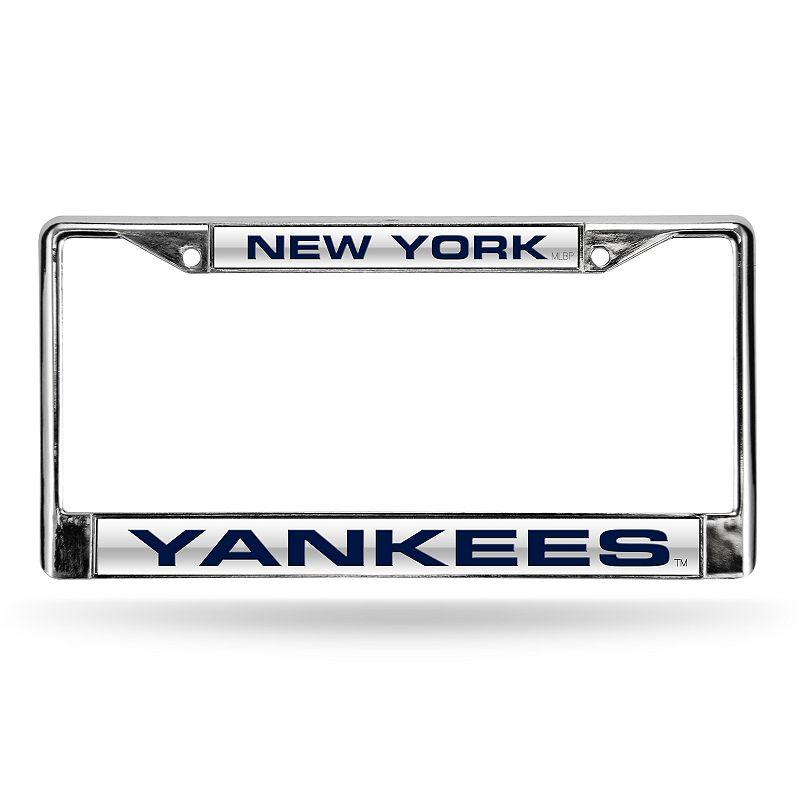 New York Yankees License Plate Frame. Grey