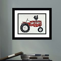 Amanti Art Modern Americana Farm V Framed Wall Art