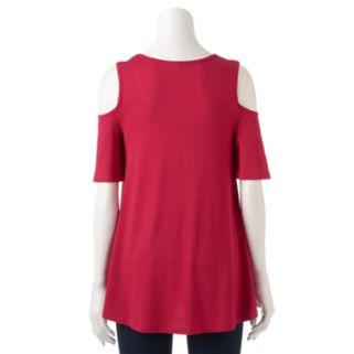 Women's ELLE™ Cold-Shoulder Swing Top