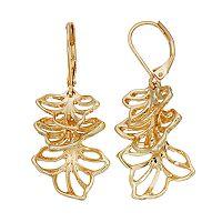 Dana Buchman Tiered Flower Nickel Free Linear Drop Earrings