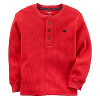 Toddler Boy Carter's Red Thermal Henley Tee