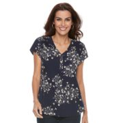 Women's Croft & Barrow® Printed Woven Top