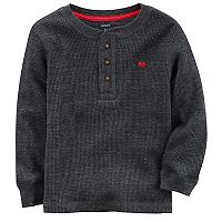 Toddler Boy Carter's Solid Thermal Henley Tee