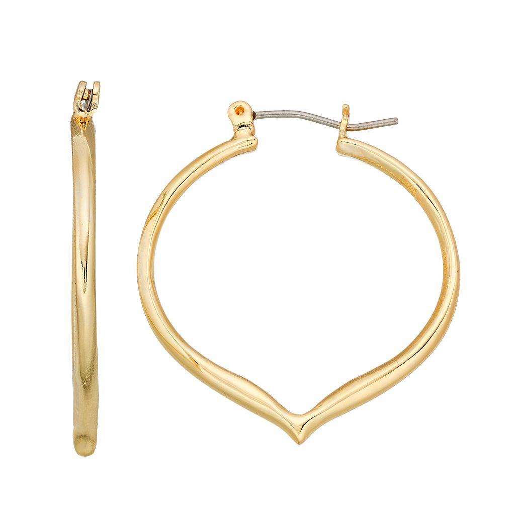Dana Buchman Pointed Nickel Free Hoop Earrings