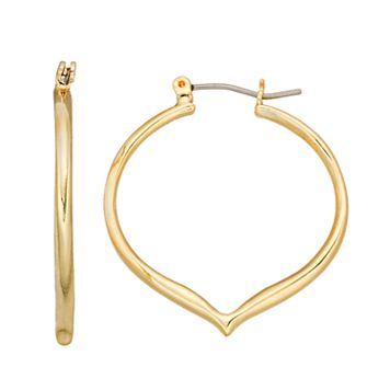 Dana Buchman Pointed Nickel Free Hoop Earrings