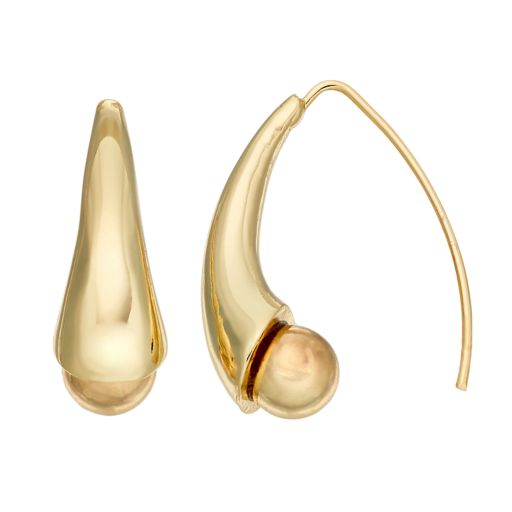 Dana Buchman Curved Nickel Free Threader Earrings