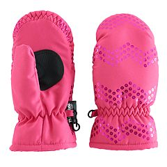 Girls 4-6x SO® Sequin Chevron Pattern Thinsulate Mittens