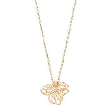 Dana Buchman Openwork Flower Pendant Necklace