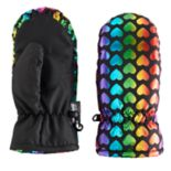 Girls 4-16 SO® Rainbow Foil Heart Thinsulate Mittens