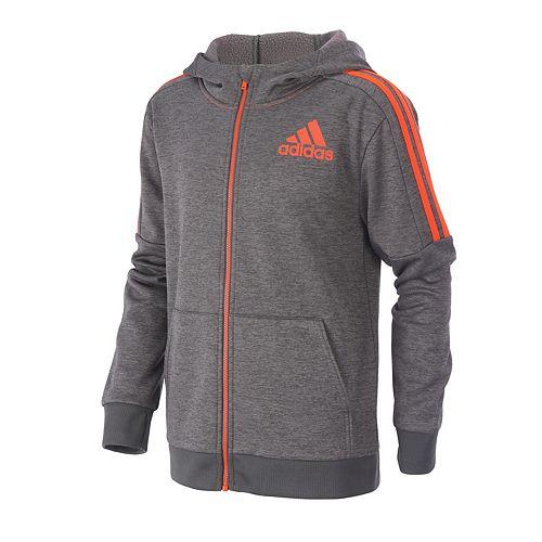 Toddler Boy adidas Hooded Fleece Jacket