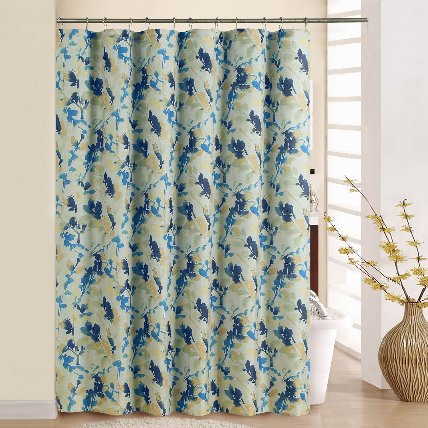 Bon Waverly Leaf Storm Shower Curtain