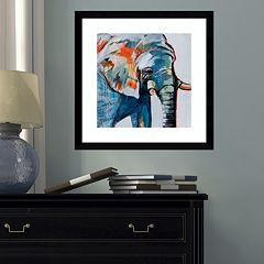 Amanti Art Mr. Silver Hair Elephant Framed Wall Art