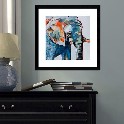 Amanti Art Mr. Silver Hair Elephant Framed Wall Art