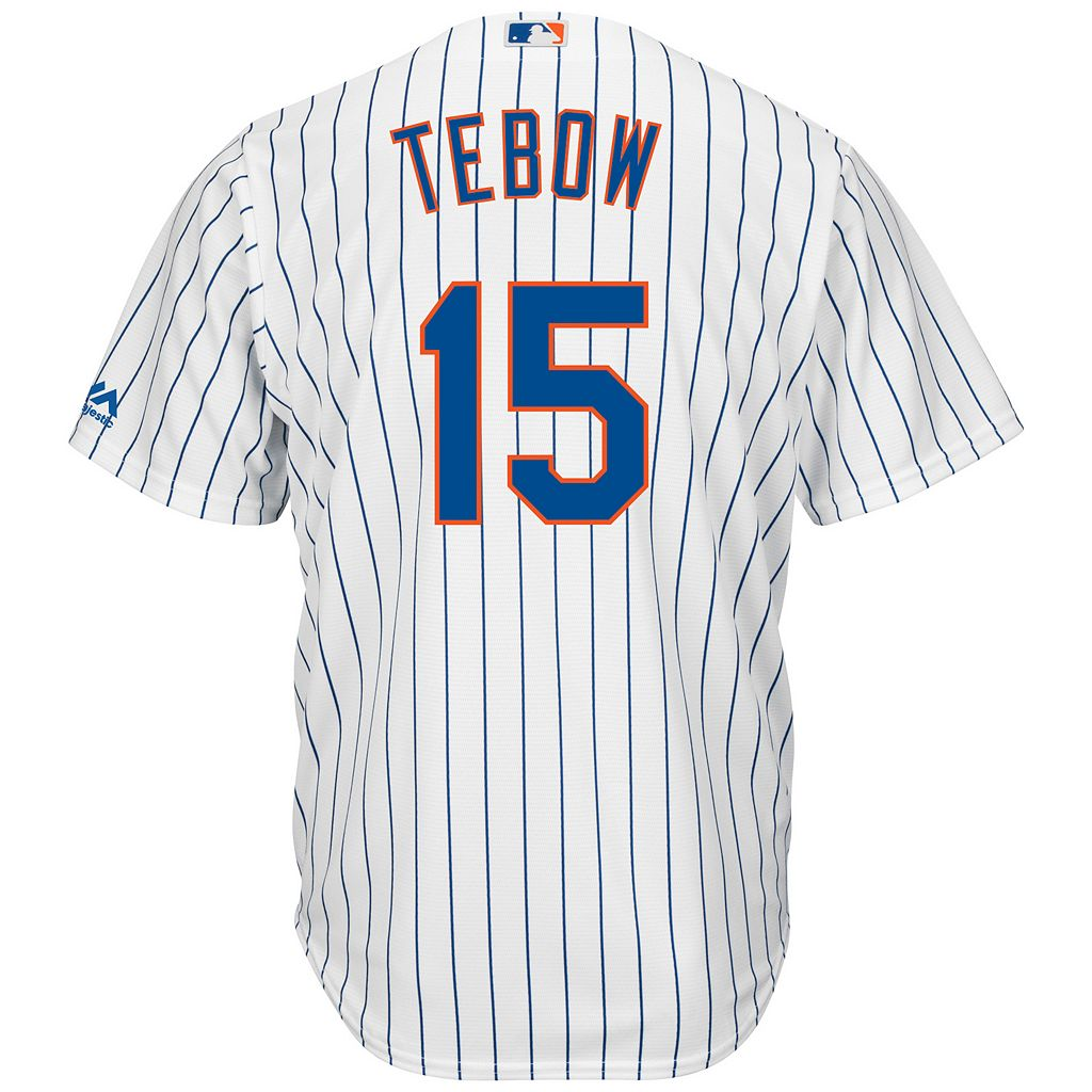 Men's Majestic New York Mets Tim Tebow Jersey