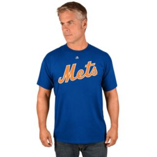 Men's Majestic New York Mets Tim Tebow Name & Number Tee