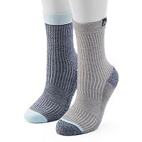 Women's Avalanche 2-pk. Contrast Heel Crew Socks