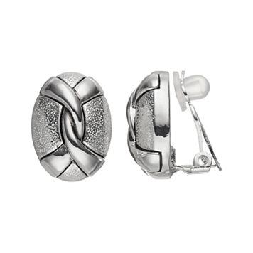 Dana Buchman Twisted Oval Clip On Earrings