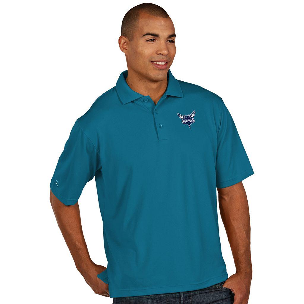 Men's Antigua Charlotte Hornets Pique Xtra-Lite Polo