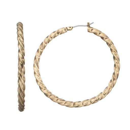 Dana Buchman Twisted Nickel Free Hoop Earrings
