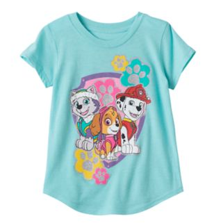 Toddler Girl Jumping Beans® Paw Patrol Marshall, Sky & Everest Glittery Graphic Tee