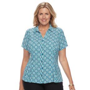 Plus Size Dana Buchman Release-Pleat Blouse